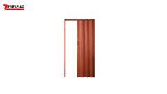 PORTA SANFONADA PVC MARROM PERFILPLAST 60CM X 2.10M