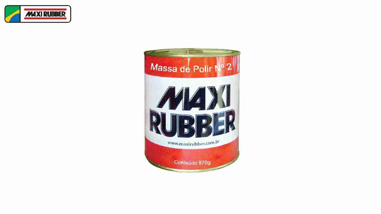 MASSA DE POLIR N°02 1/4 MAXI RUBBER 970G