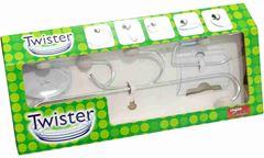 KIT PARA BANHEIRO STEEL TWISTER 5 PC CINZA