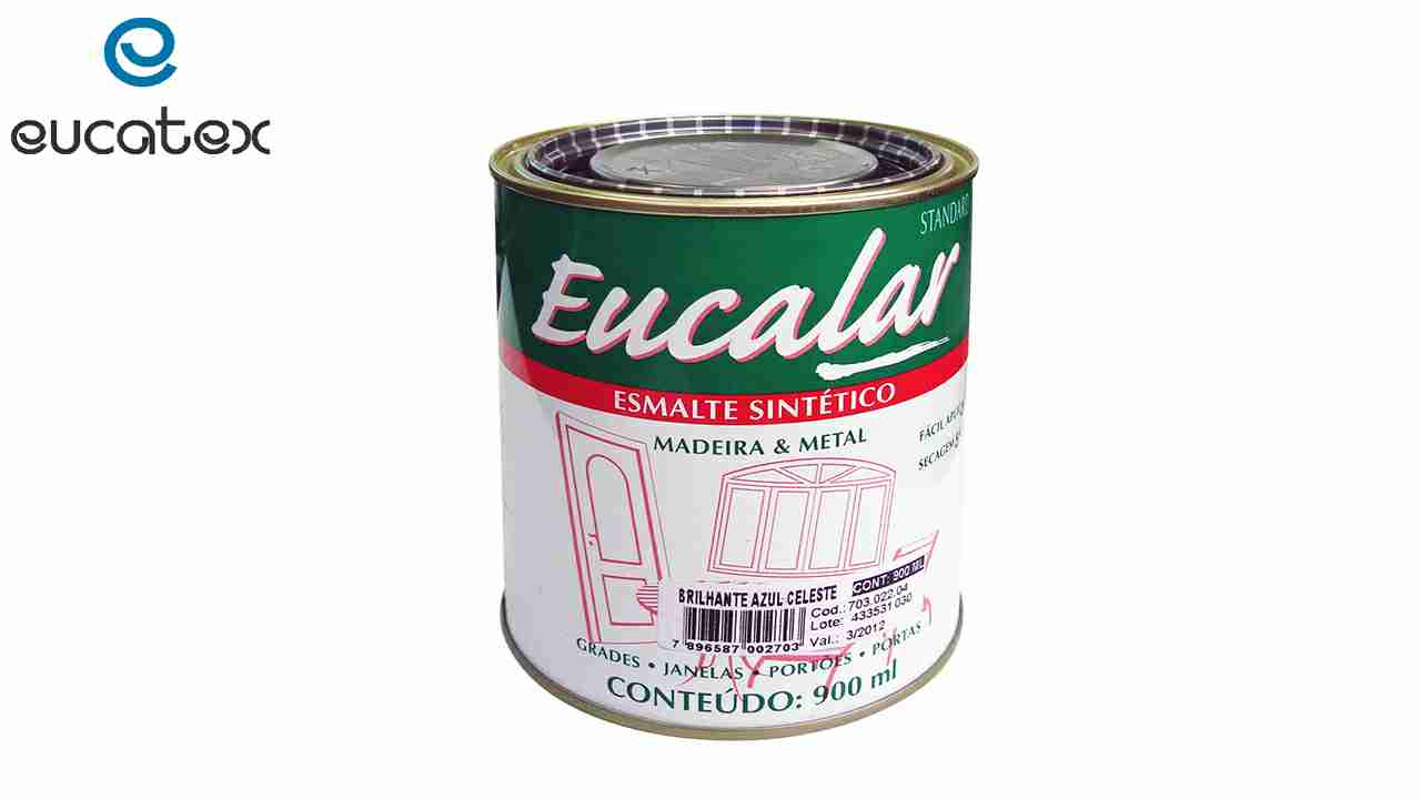 ESMALTE SINTÉTICO EUCATEX EUCALAR LT900ML PRETO