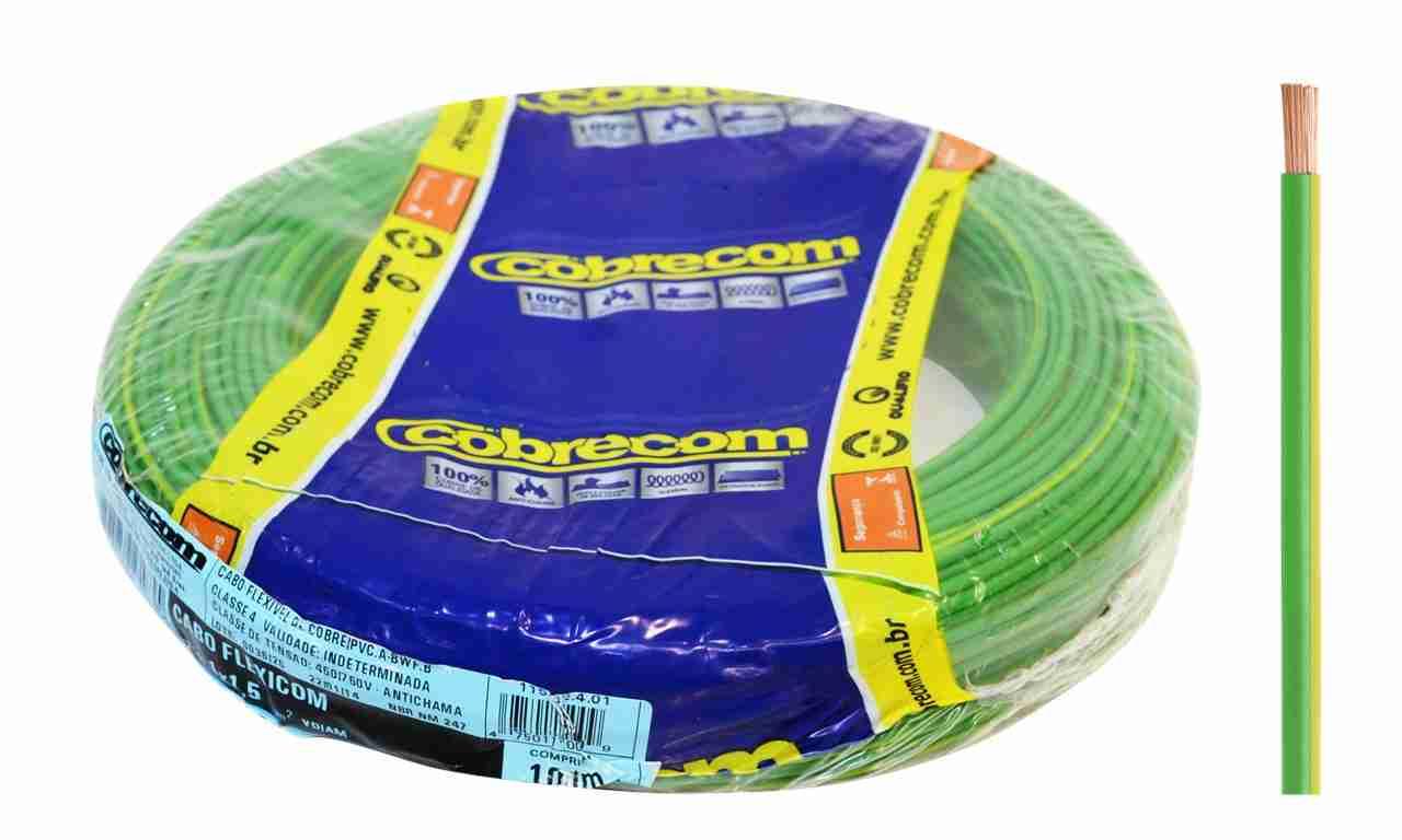 CABO FLEXÍVEL COBRECOM 4MM² AZUL 450/750V ROLO C/100M