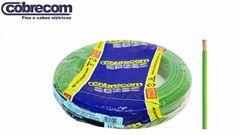 CABO FLEXÍVEL COBRECOM 4MM² VERDE 450/750V ROLO C/100 METROS