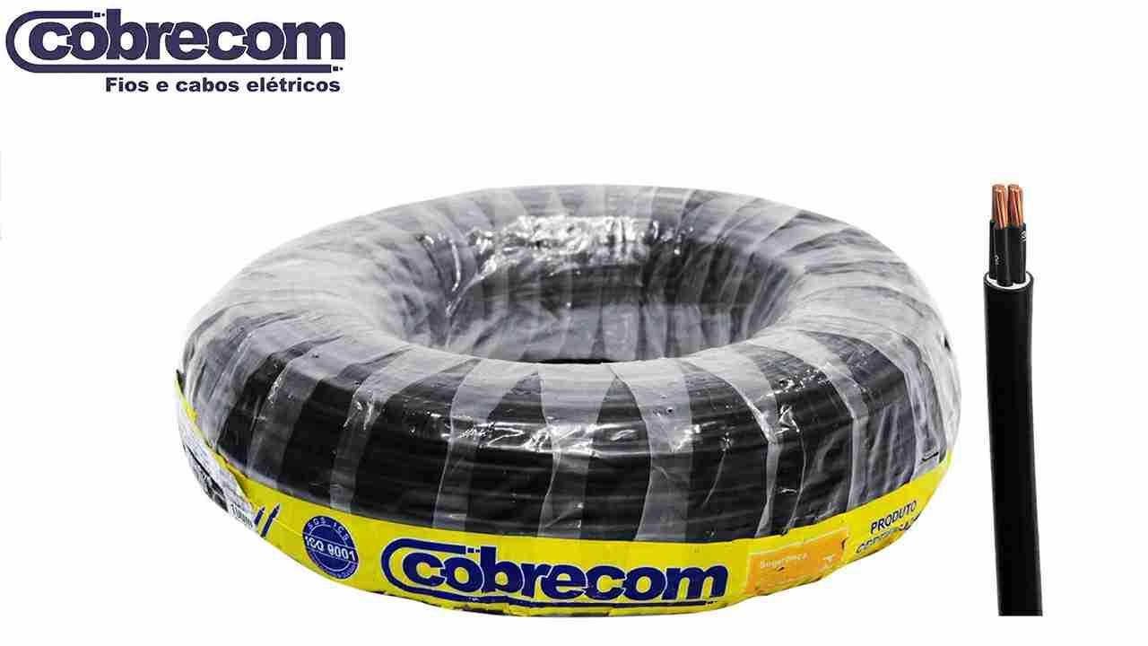 CABO PP COBRECOM 3X2.50MM² 500V ROLO C/100M