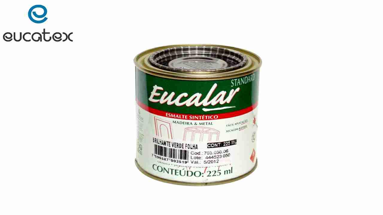 ESMALTE SINTÉTICO EUCATEX EUCALAR 1/16 225ML PRETO