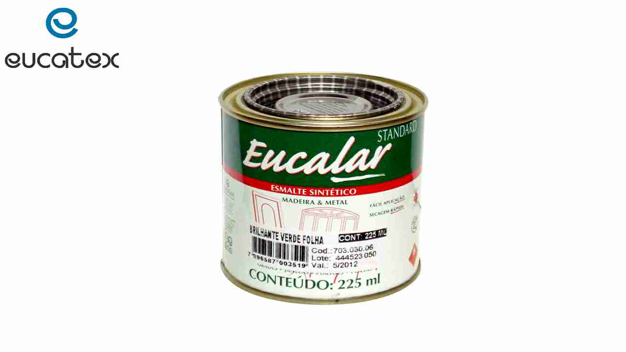 ESMALTE SINTÉTICO EUCATEX EUCALAR 1/16 225ML AMARELO OURO