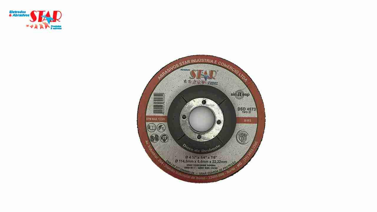 DISCO DESBASTE STAR 4.1/2X1/4X7/8