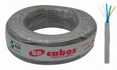 CABO PARA TELEFONE CCI GP CABOS 04 PARES CINZA ROLO C/100M