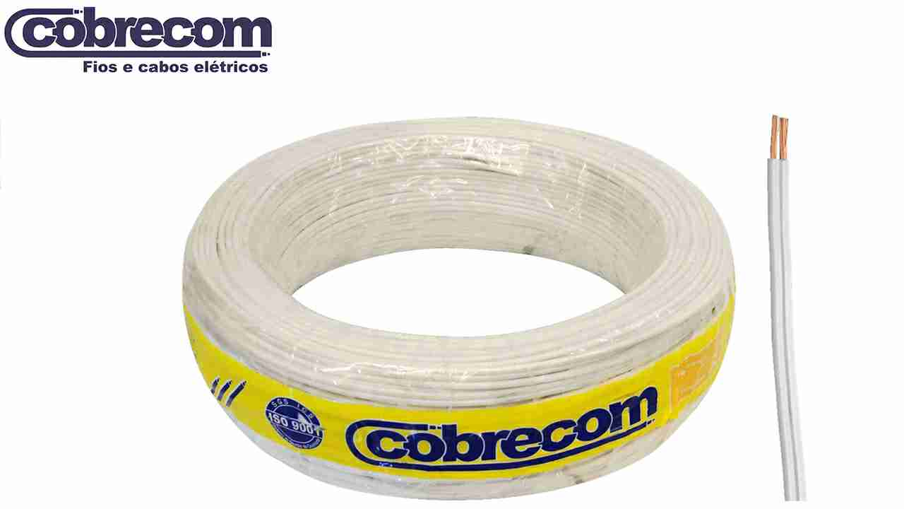 CORDÃO COBRECOM PARALELO 2X0.75MM² BRANCO ROLO C/100M