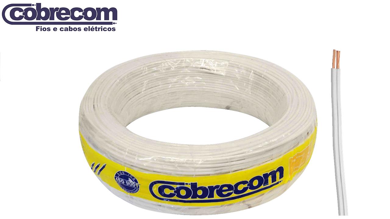 CORDÃO COBRECOM PARALELO 2X1.50MM² BRANCO ROLO C/100M