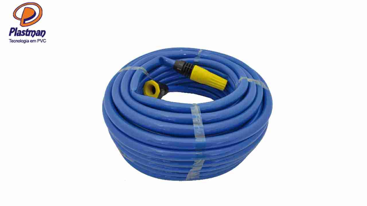 MANG.JARDIM PLASTMAN PVC AZUL 10M