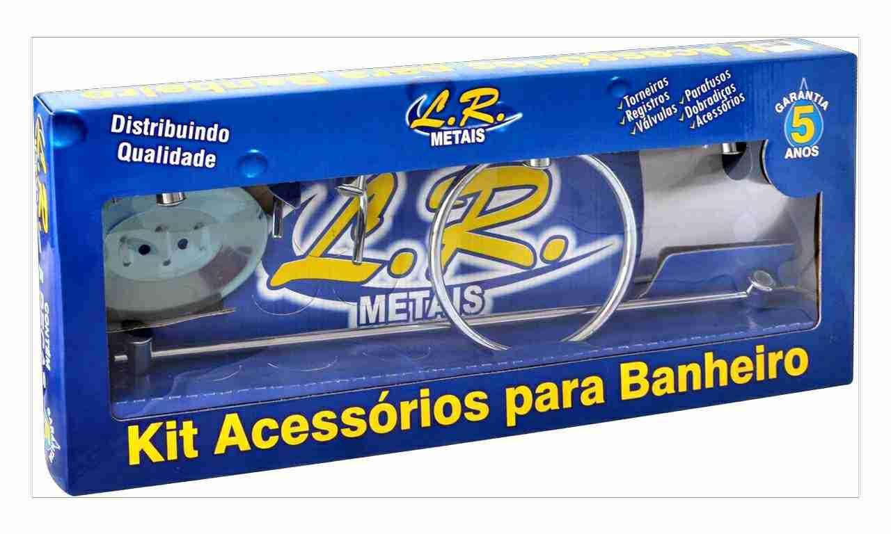 KIT PARA BANHEIRO L.R.METAL C/05 PECAS