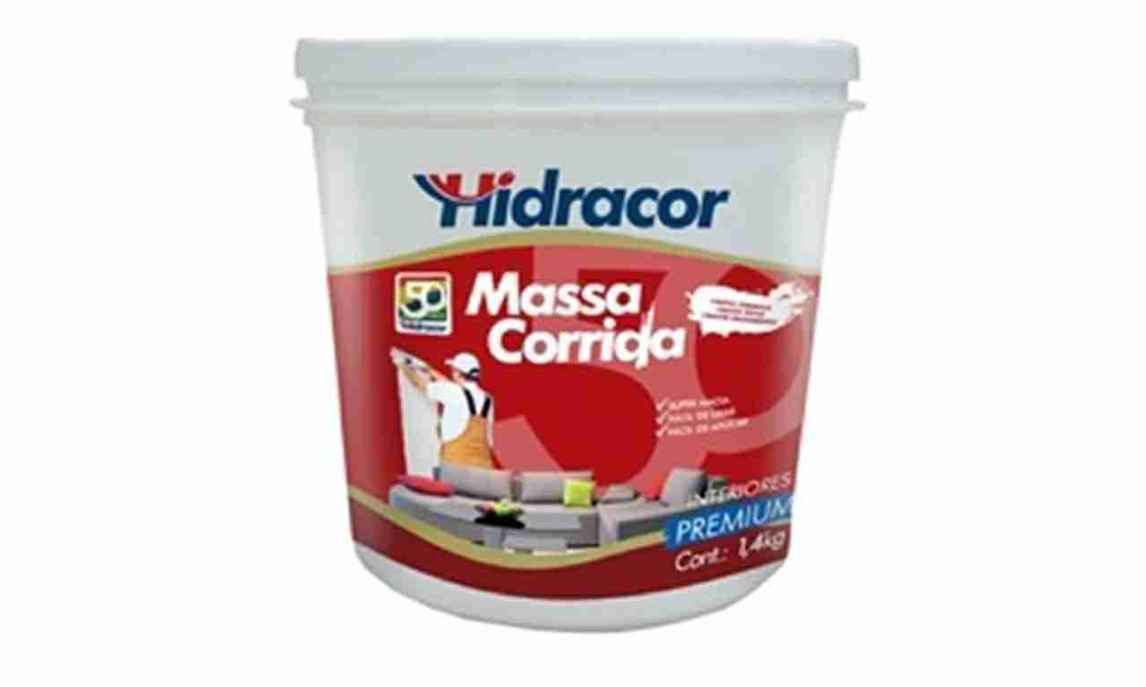 MASSA CORRIDA HIDRACOR  LITRO 1,4 KG