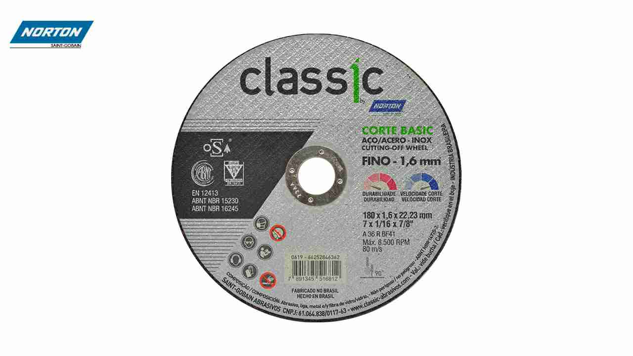 DISCO CORTE CLASSIC INOX 7X1/16X7/8