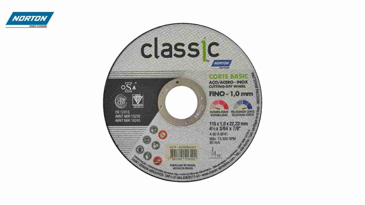 DISCO CORTE CLASSIC INOX 4.1/2X3/64X7/8