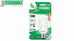 LAMPADA ELETRONICA TASCHIBRA ESPIRAL LUZ NEUTRA 4000K 127V 13W E27 808 LUMENS