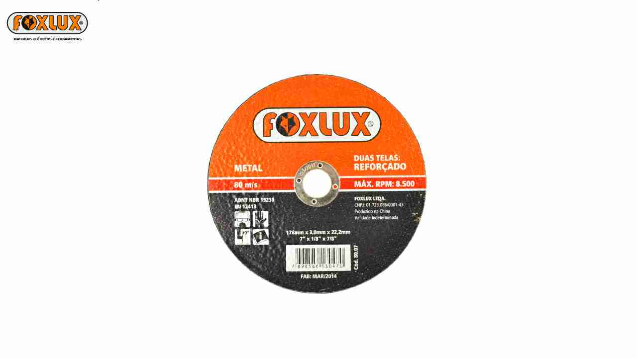 DISCO CORTE FOXLUX METAL 4.1/2X1/16X7/8