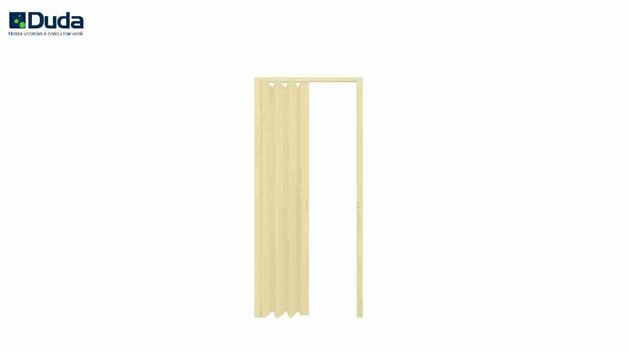 PORTA SANFONADA PVC BEGE DUDA 62CM X 2.10M