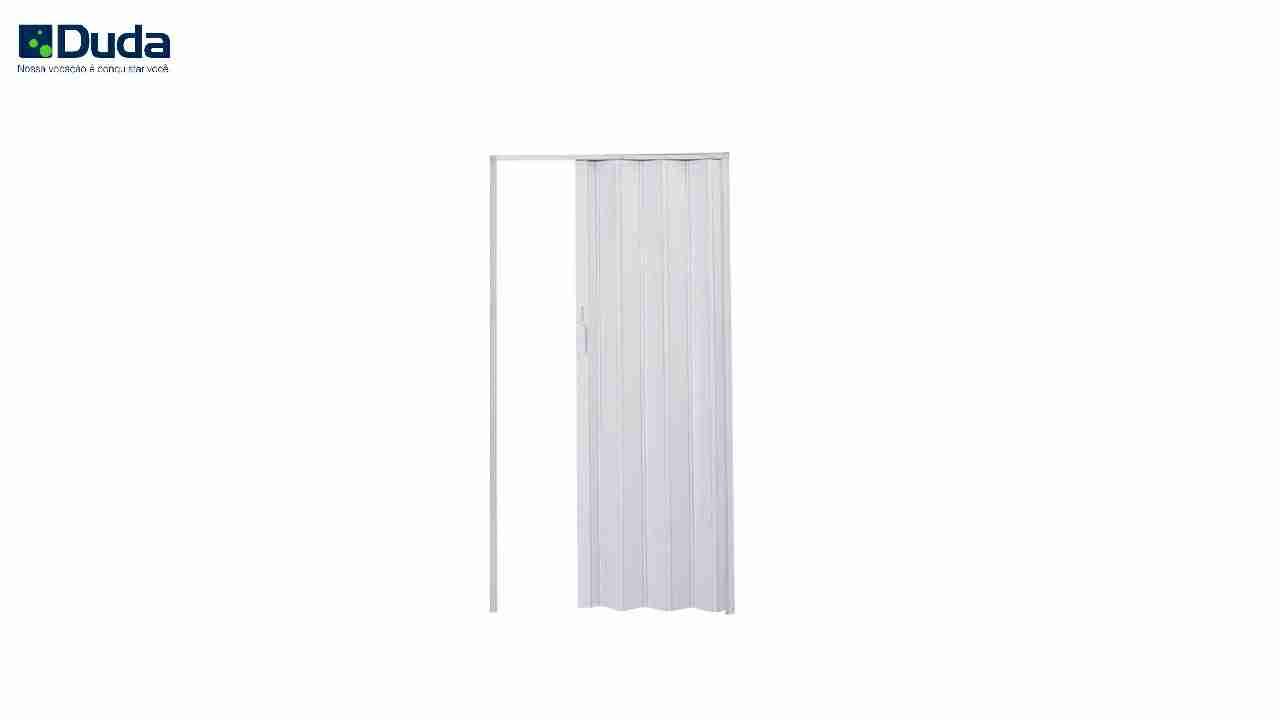 PORTA SANFONADA PVC BRANCA DUDA 72CM X 2.10M