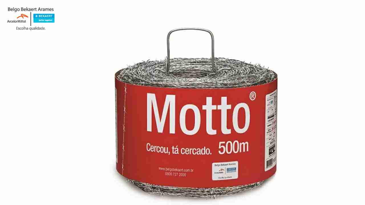 ARAME FARPADO BELGO MOTTO ROLO C/500M