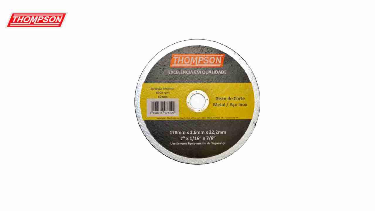 DISCO CORTE THOMPSON METAL/INOX 7X1/16