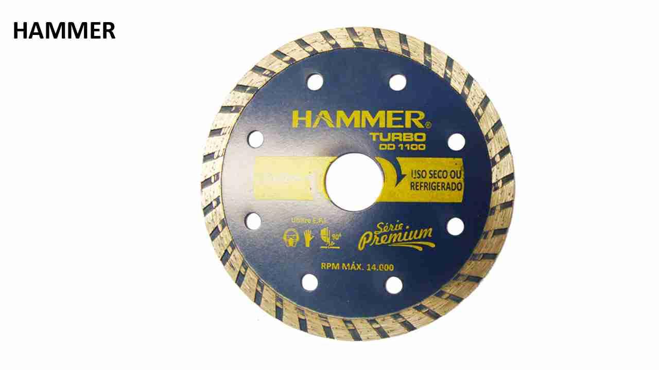 DISCO DIAMANTADO HAMMER TURBO 110MMX20MM