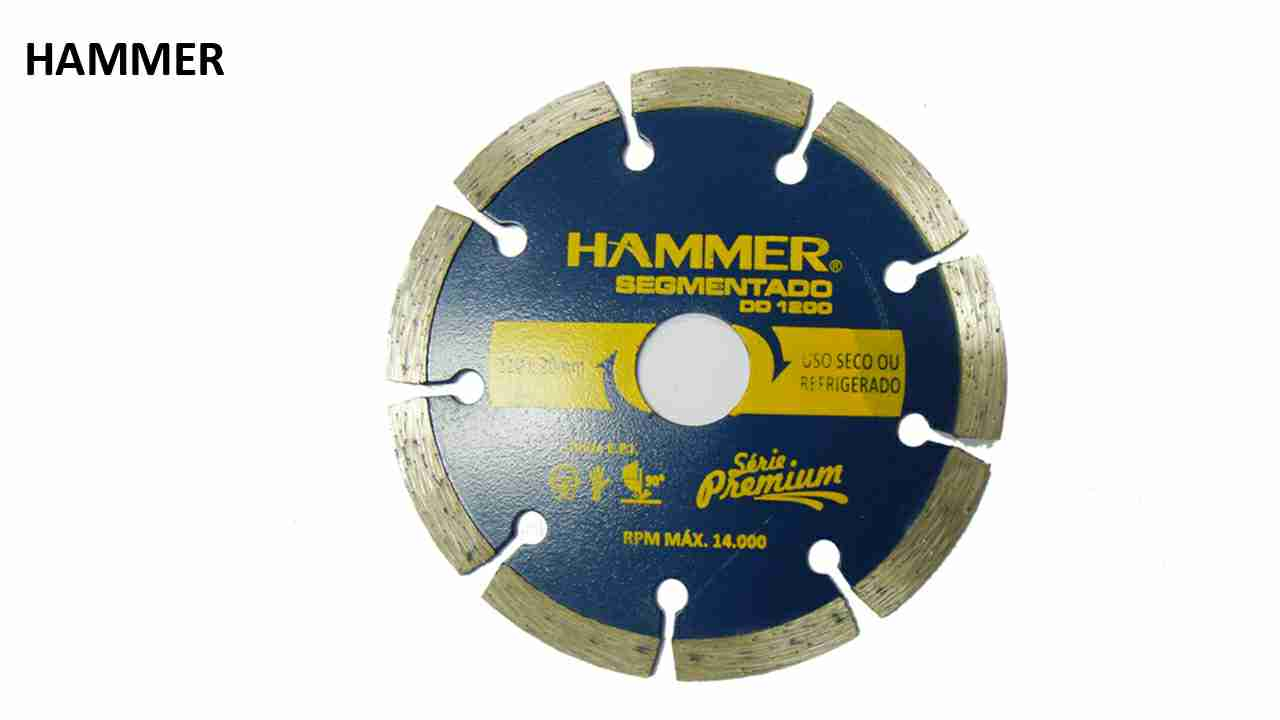 DISCO DIAMANTADO HAMMER SEGMENTADO 110MMX20MM
