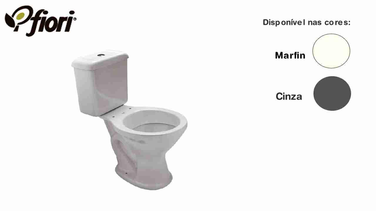 CAIXA ACOPLADA LINHA FIORI CINZA CLARO 6L