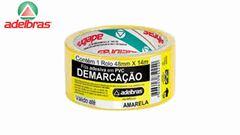 FITA DEMARCAÇÃO ADESIVA ADELBRAS AMARELO 48MX14M