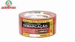 FITA DEMARCAÇÃO ADESIVA ADELBRAS VERMELHO 48MX14M