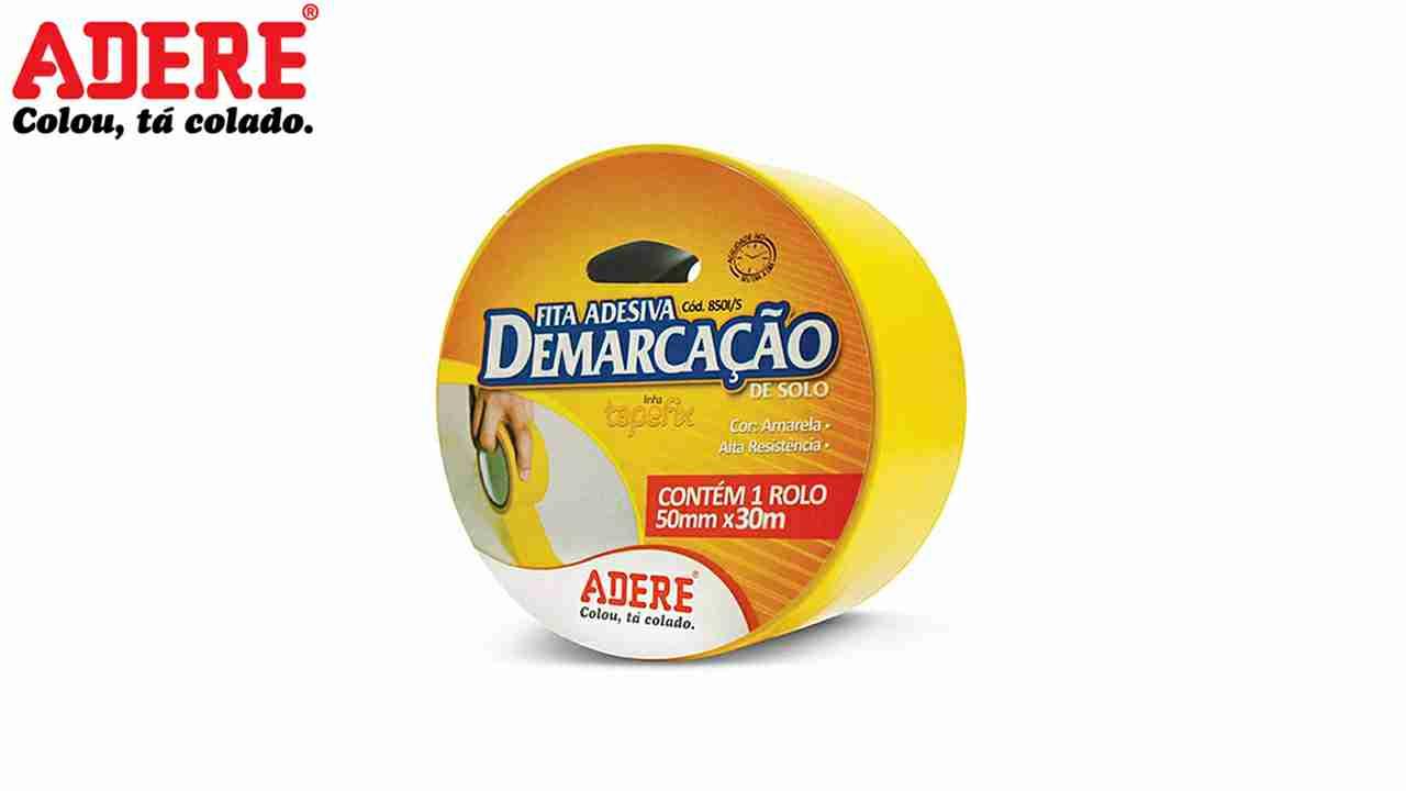 FITA DE DEMARCAÇÃO ADESIVO ADERE AMARELO 50MMX15M