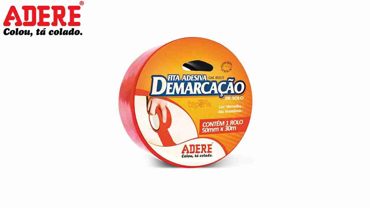 FITA DE DEMARCAÇÃO ADESIVO ADERE VERMELHO 50MMX15M