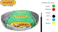 CABO FLEXÍVEL NAMBEIFLEX 2.5MM² PRETO 450/750V ROLO C/100M
