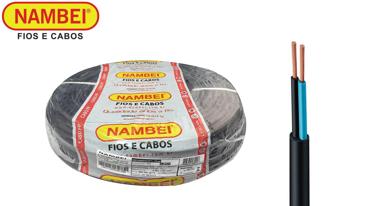 CABO NAMBEIFLEX PP 2X0,75 500V ROLO C/100M