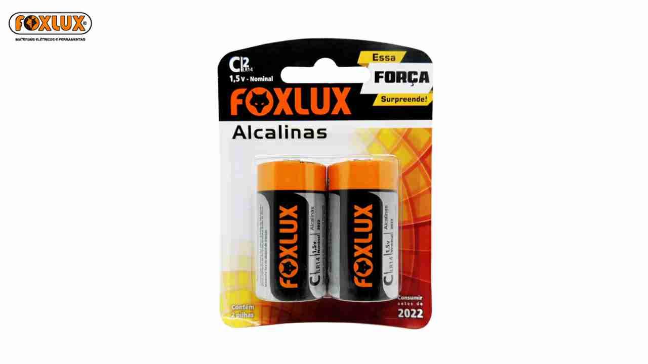 PILHA ALCALINA FOXLUX MEDIO C C/02