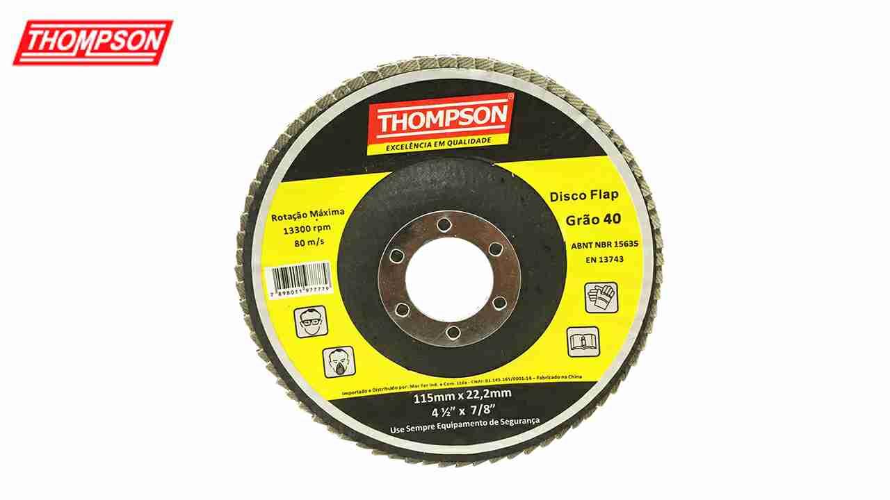 DISCO THOMPSON FLAP 4.1/2X7/8 GRÃO  80