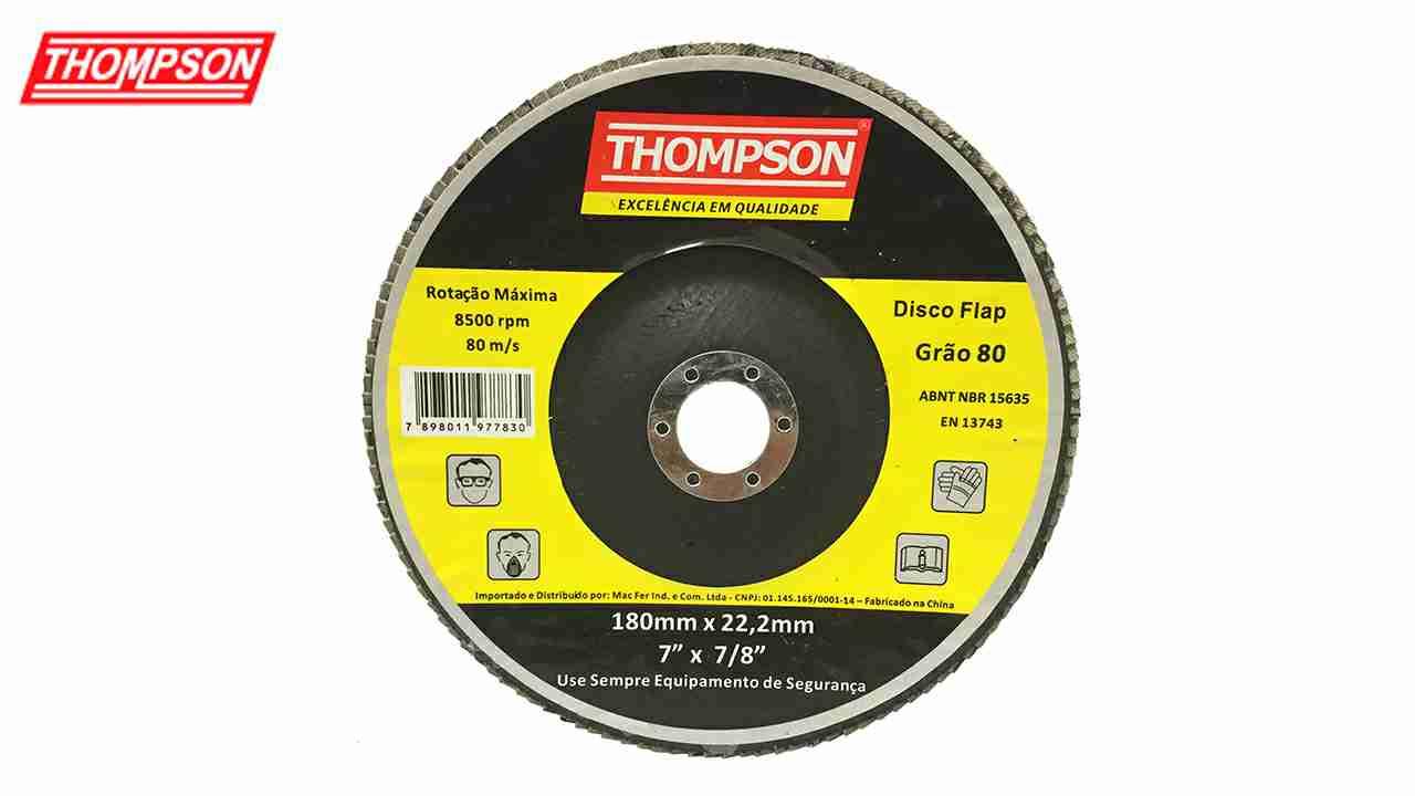 DISCO THOMPSON FLAP 7X7/8 GRÃO  40