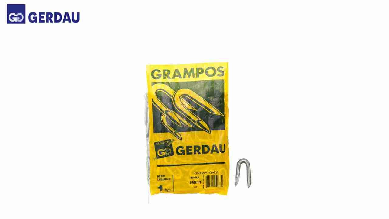 GRAMPO GERDAU P/CERCA GALV.19X10-7/8X9