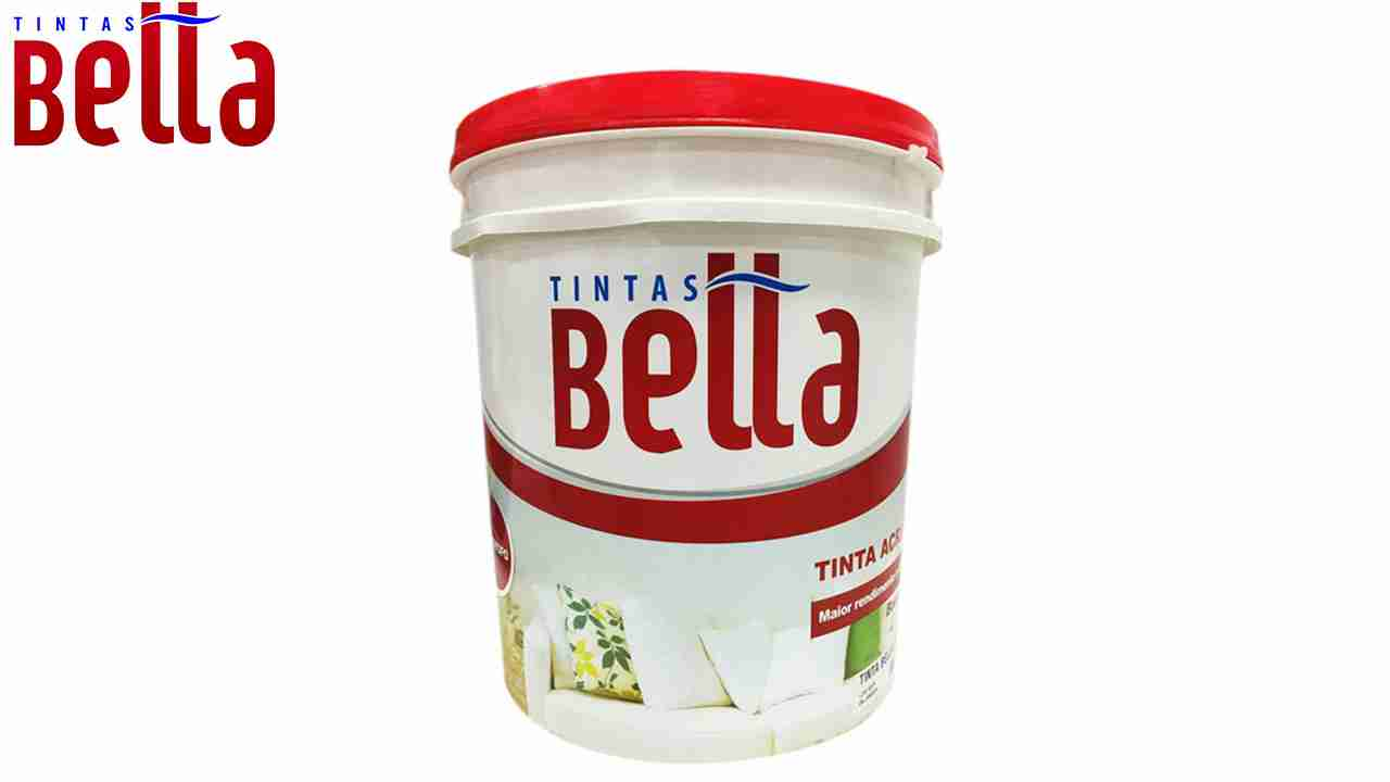 TINTAS BELLA LÁTEX BALDE 16L BRANCO NEVE