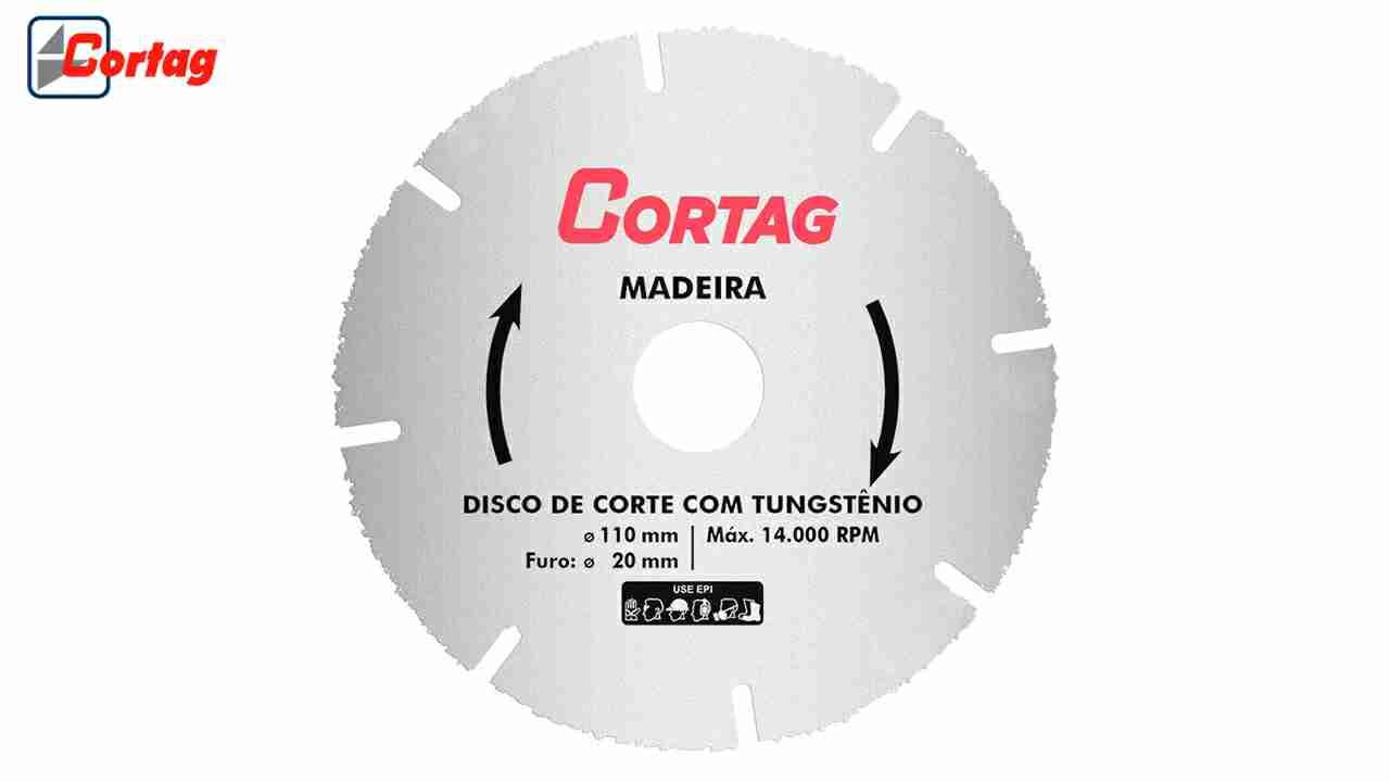 DISCO DE CORTE CORTAG TUNGSTÊNIO PARA  MADEIRA
