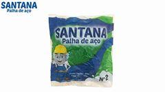 PALHA DE ACO SANTANA N°2 PACOTE C/20