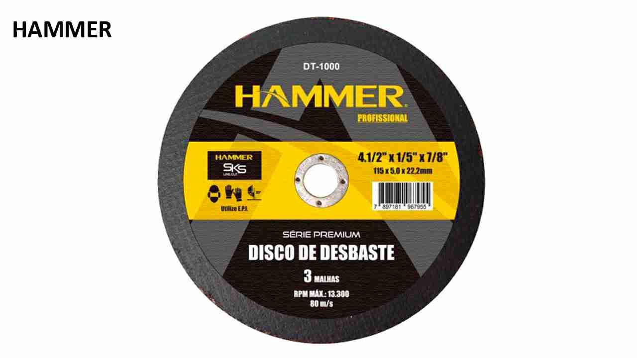 DISCO DESBASTE HAMMER 4.1/2X1/5  X7/8