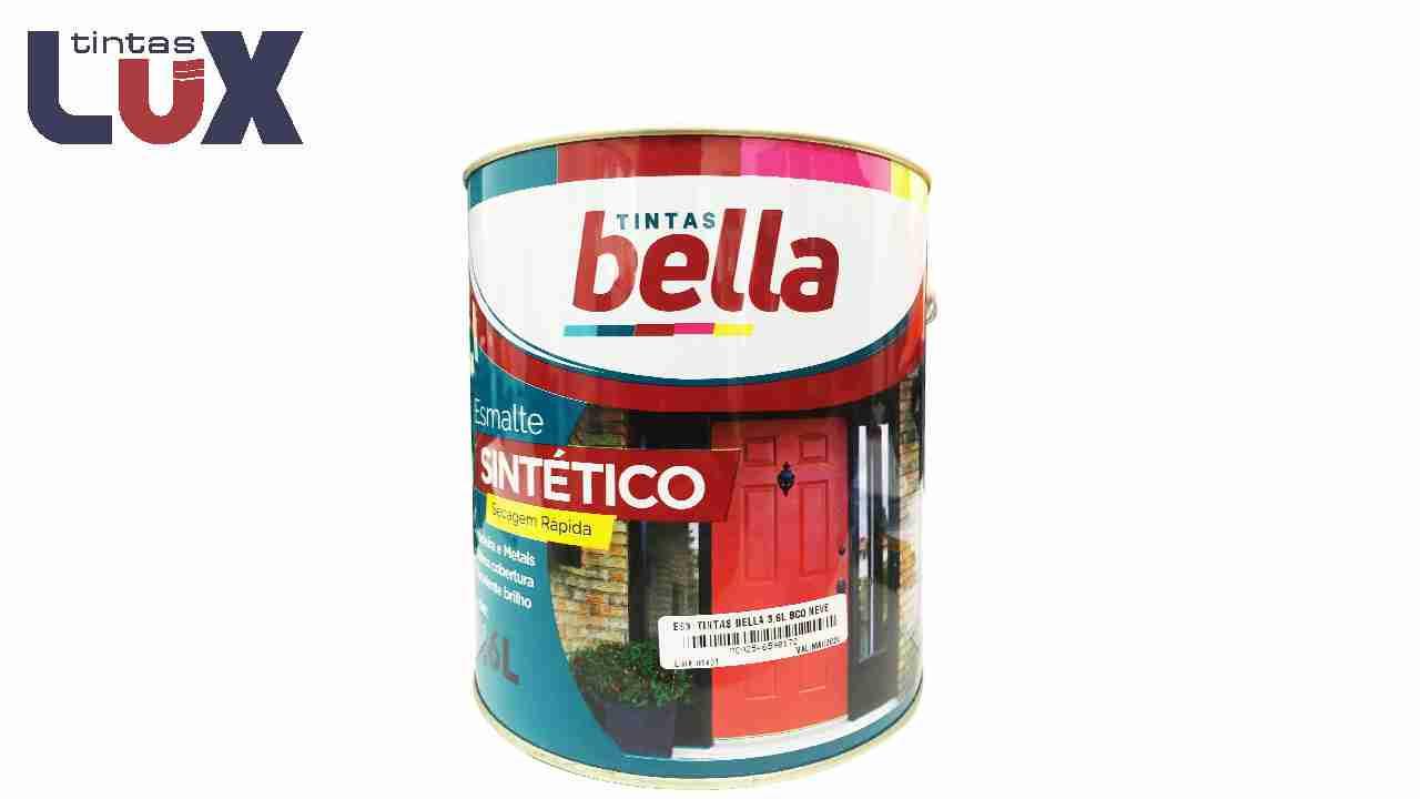 ESMALTE SINTÉTICO TINTAS BELLA GL3,6L PRETO