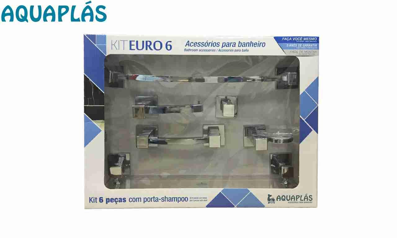 KIT PARA BANHEIRO AQUAPLAS EURO CR CROMADO C/6