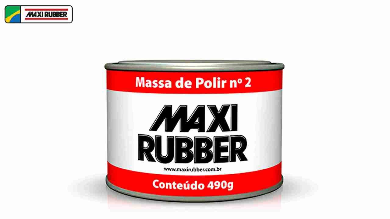 MASSA DE POLIR N°02 1/4 MAXI RUBBER 490G