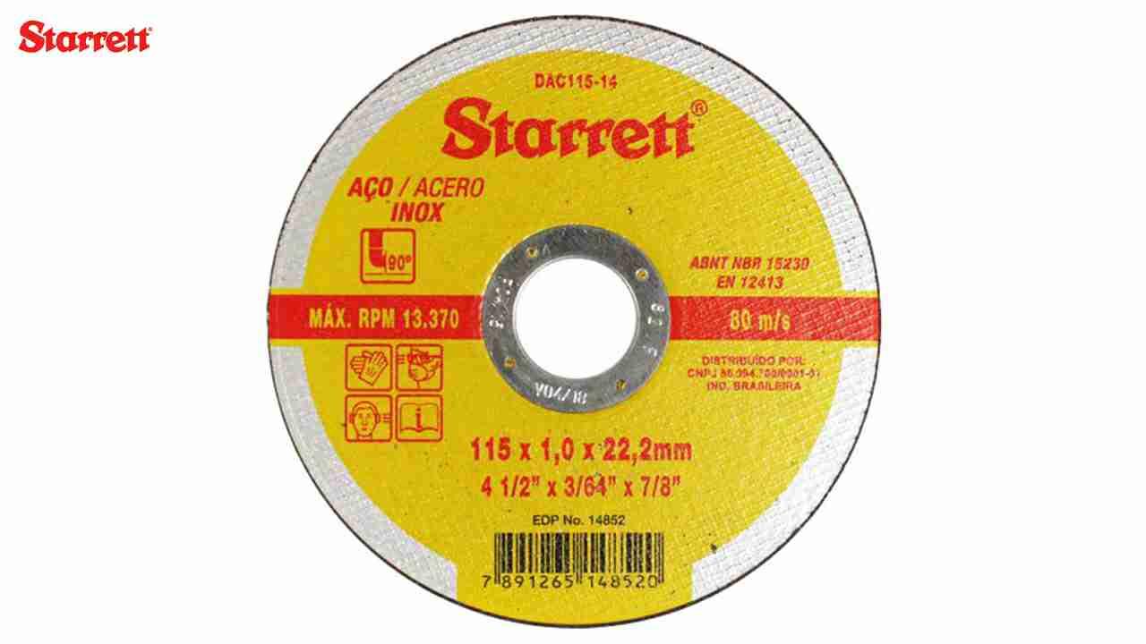 DISCO CORTE STARRETT 4.1/2X3/64X7/8