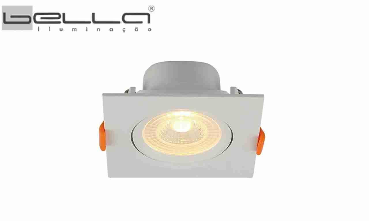 SPOT LED QUA.EMB.5W AM BELLA BIV.9,1X9,1