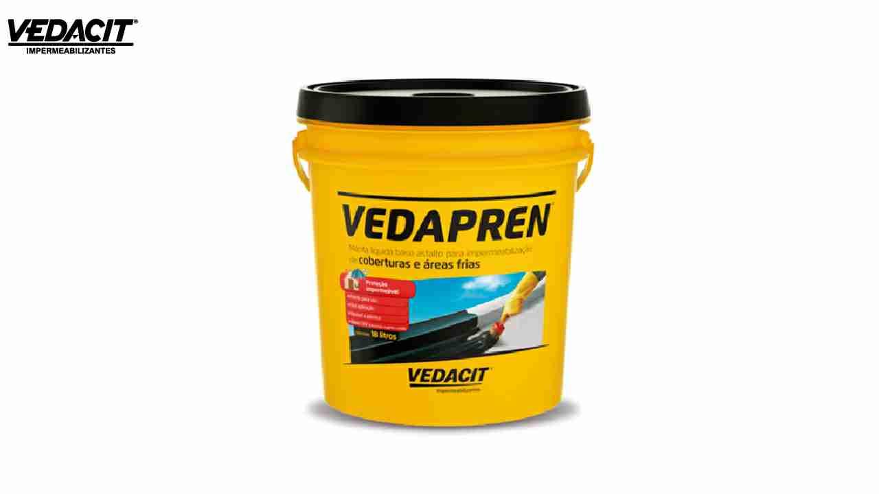 VEDACIT VEDAPREN PRETO GL 3,6L (3,7 KG)