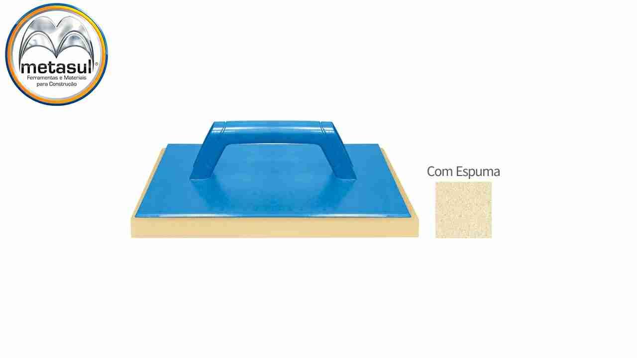 DESEMPENADEIRA PVC METASUL 17X30 COM ESPUMA