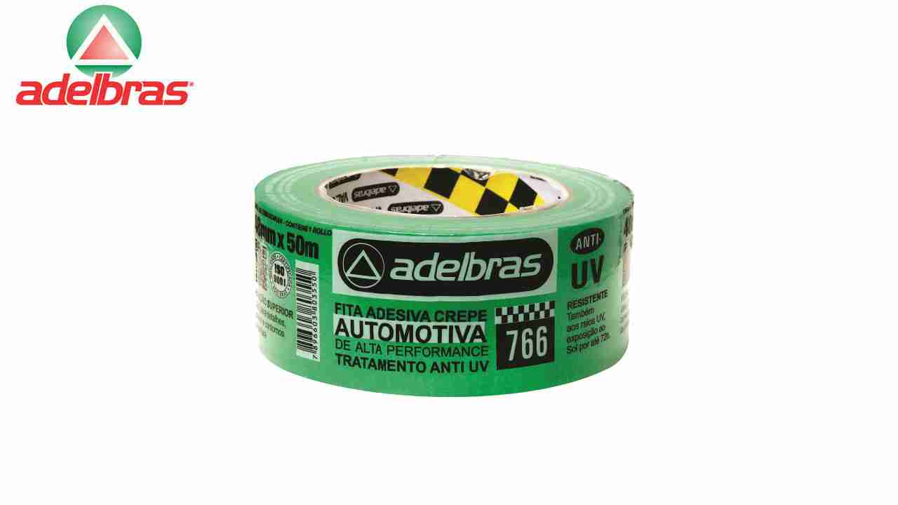 FITA CREPE ADELBRAS AUTOM.766 18MMX50MM