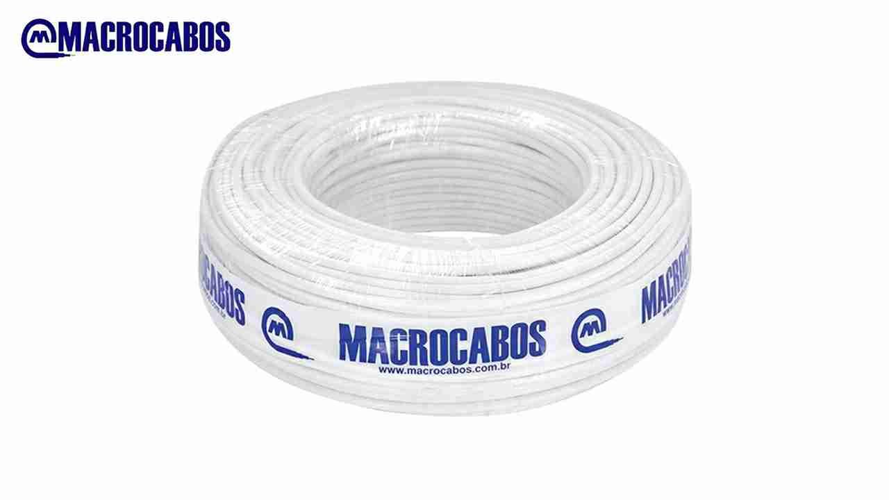 CABO COAXIAL MACROCABO CE.59 47% BRANCO ROLO C/100M100M